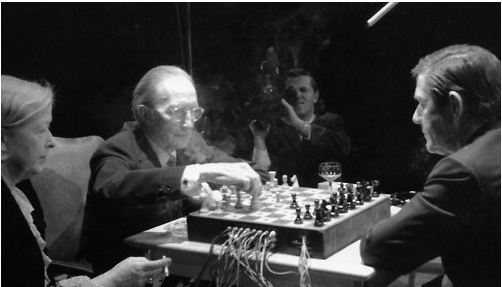 Duchamp and Cage play electronic chess